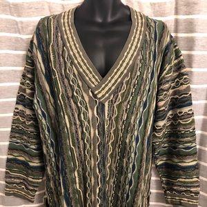 Vintage COOGI Deep V Neck Pullover Cotton Sweater